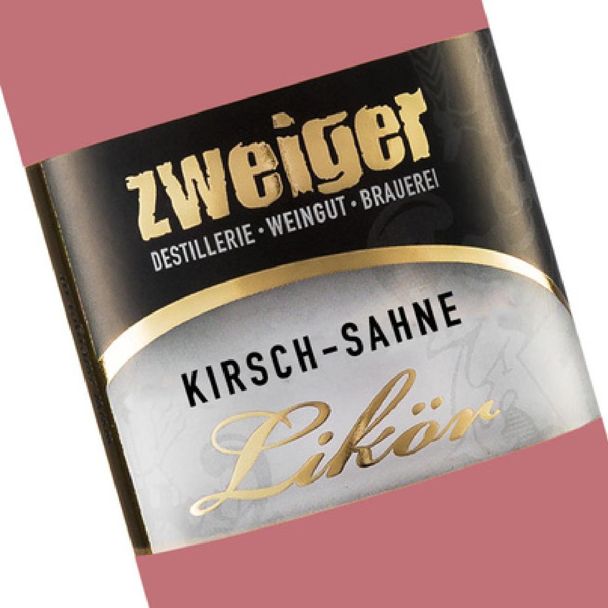 Kirsch-Sahne Cremelikör Zweiger Destillerie