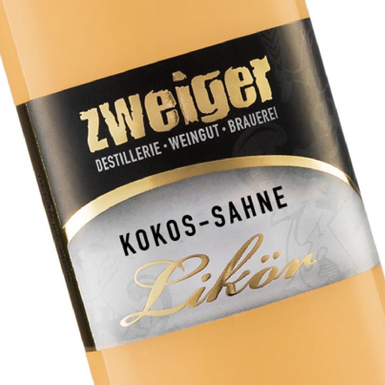 Kokos-Sahne Cremelikör Zweiger Destillerie