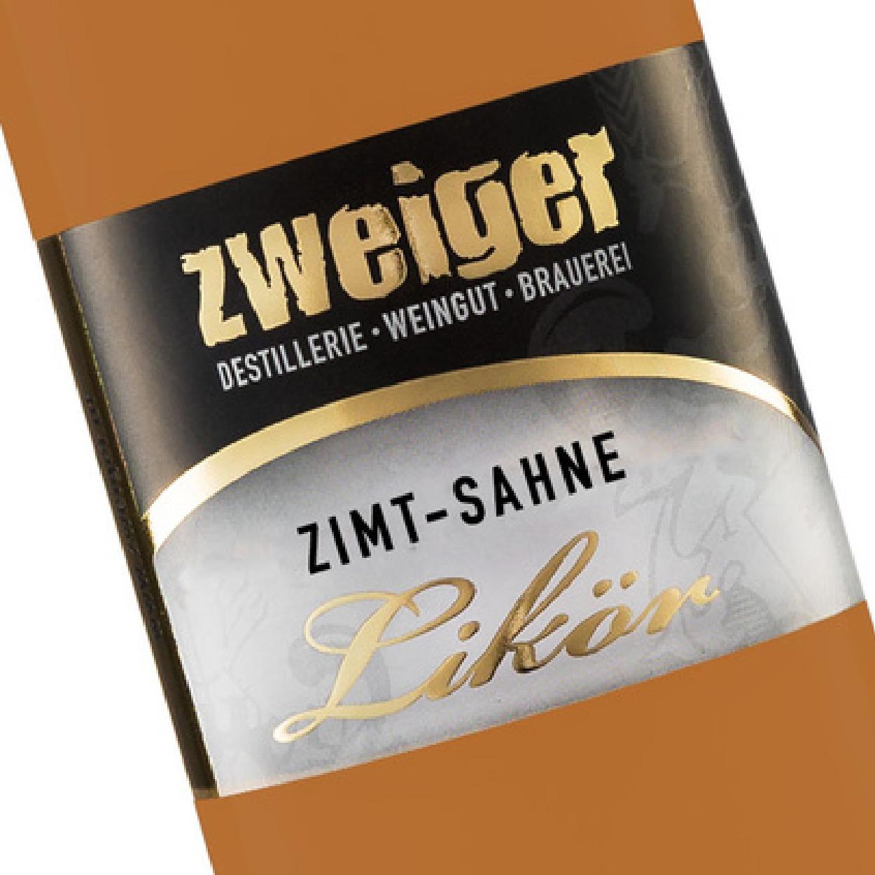 Zimt-Sahne Cremelikör Zweiger Destillerie