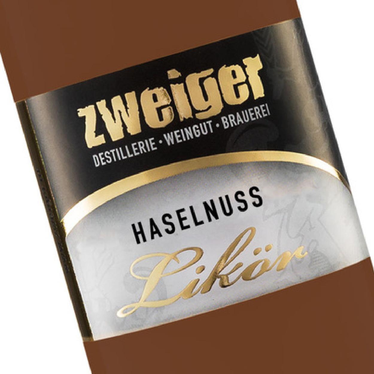 Haselnuss Cremelikör Zweiger Destillerie
